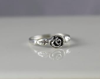 Sterling Silver Small Rose Ring