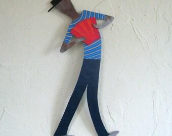 Musician wall art- Cajun musician - Jesse - Zydeco music theme home decor mardi gras
