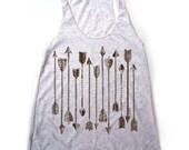 Womens ARROWS Collection american apparel Tri-Blend Racerback Tank Top S M L (10 Color Options)