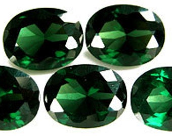 9x7mm Oval Faceted ~ Created Tourmalines  ~  FDK