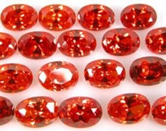 Super fiery ORANGE CZs ~ 7x5mm Oval ~  item# ORCZ2 ~ Cubic Zirconia ~ FDK