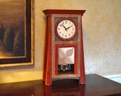 The Concord mission style (craftsman, arts and crafts) clock