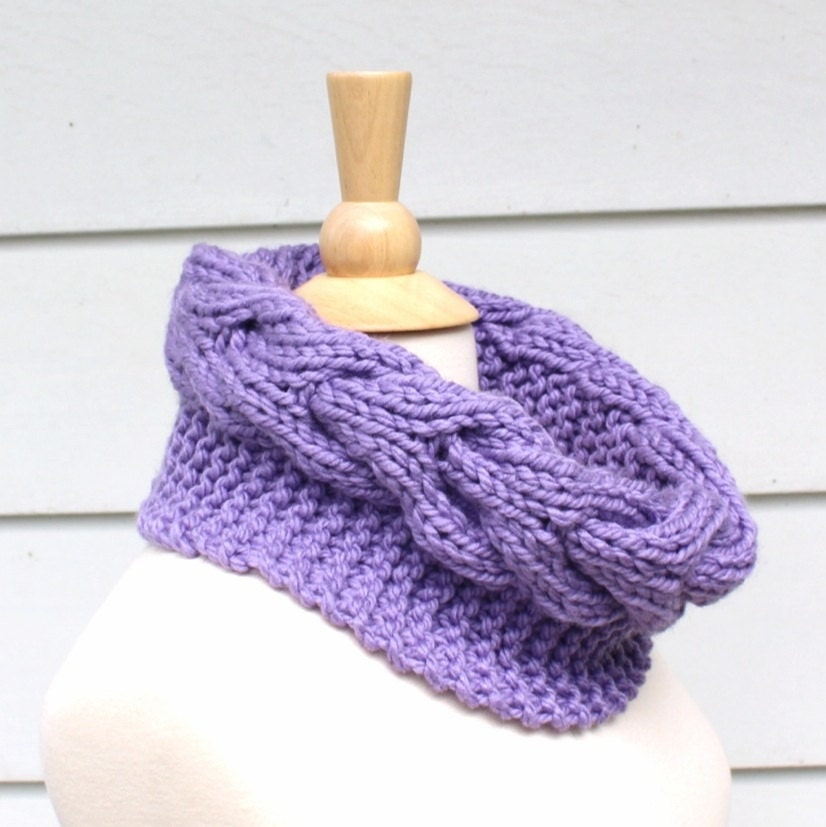 Free Knitting Pattern Chunky Cable Scarf : Knit scarf knit cowl Hand knit chunky cowl scarf circle