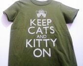 Olive Keep Cats and Kitty On Kids Short Sleeve Tee T-shirt