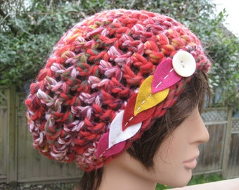 Multicolor Crocheted Slouch Hat 298/13