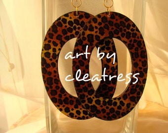 Animal Print Hoops with Variations
