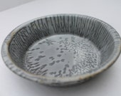 Gray Enamel Bowl Graniteware Vintage Collectible Gray
