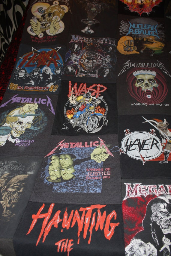 Custom Heavy Metal T Shirt Quilt You Supply The Shirts