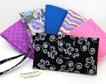 womens wallet, YOU CHOOSE FABRIC, custom made wallet, handmade wallet, checkbook wallet, cell phone wallet, wristlet wallet, trifold wallet