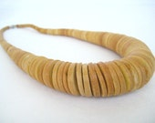 Vintage Wood, gypsy, tribal, ethnic, boho, natural, wood bead,chunky,  necklace: Renegade Icon Designs