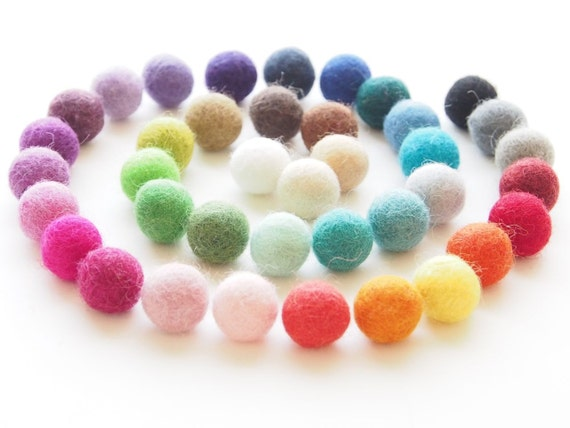 Felted Wool Beads, Felt Beads, Needle Felting DIY Craft Crafting Woodland Geometric Rainbow Spiral