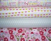 YARD Bundle - 5% OFF! Riley Blake, Remember, Carina Gardner, Designer Cotton Quilt Fabric, Pink & Grey Fabric Bundle, Quilting Fabric