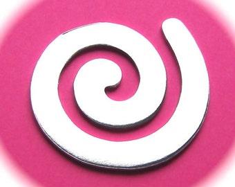 5 - Swirls Polished 1-3/4 Inch 14 Gauge Food Safe Aluminum