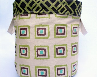 Toy Bin , Storage Bin , Canvas Bin , Reversible Bin