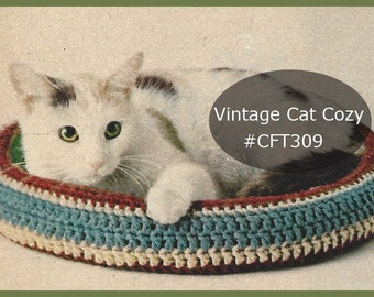 Cat Crochet Bed/Nest/Cozy Crochet Pattern CFT309 - Pattern ...