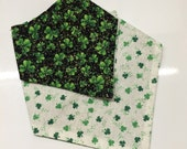 St. Patrick's Day Dog Scarf/Bandana - Reversible - Sparkles - Tie On Bandana