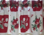 Kitchen Valance 50 X 13 1/2 Retro Cherries/Apples New Fabric