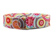 Ladies Bright Floral Swirls Fabric Belt in Custom Sizes Small Medium or Large Preppy D Rings Women's Belt Modern and Preppy 1.5 inch Width