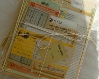2 Dozen Antique Hand Selected Altered Journal Unused Ephemera 24pc Farmhouse Series