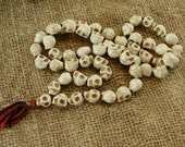 Skull Mala - Carved Skull Beads - 10 beads - sm110pc