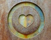 Copper Heart Print, Rustic Heart Art, Heart Wall Decor, Industrial Art, Rustic Home Decor, Boho Wall Decor, Urban Photography,Heart Wall Art