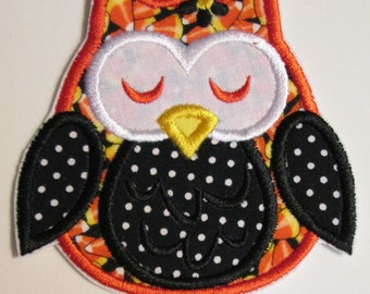 Iron On Applique -  Halloween Owls