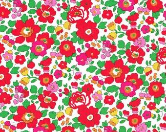 Liberty Fabric Betsy S Hot Scarlet Magenta Tana Lawn Half Yard