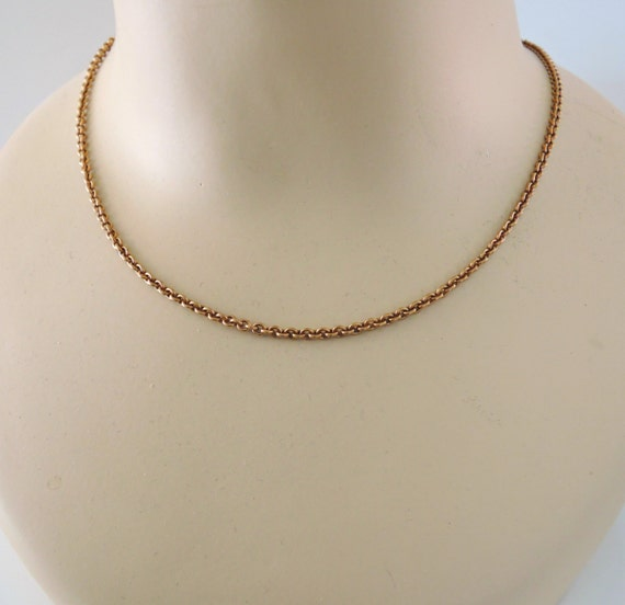 Vintage Necklace - Brass Necklace -  DIY Necklace - 30 INCH Cable Link Chain - Handmade