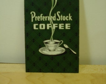 Set of 10 cards Perferred Stock COFFEE playing cards swap cards coffee cards vintage coffee
