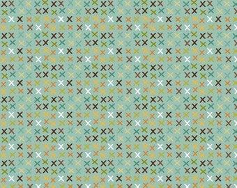 SPRING Giraffe Crossing - 2 yards - Tic Tac in Teal - Sku C2854 - Riley Blake Designs