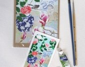 iPhone4 Sticker and matching blank art card: Sydney winter flowers
