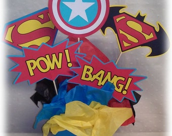 Super Hero Centerpiece