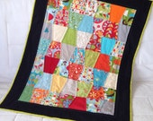 RESERVED for ShelleyBerelli Patchwork Cot / Throw Quilt - Mod Blocks
