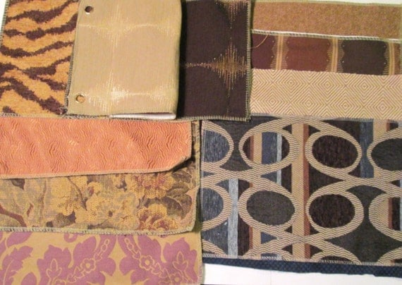 Yardage Book Cover Diy : Fabric samples upholstery swatch book chenille