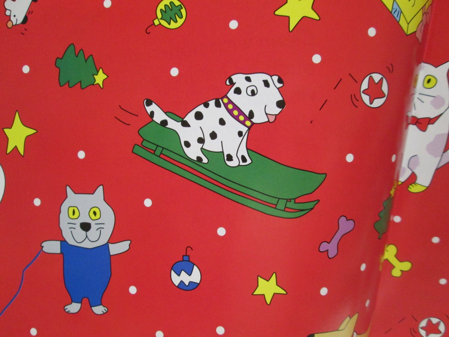 Christmas Gift Wrapping Paper 2 Pets Cats Dogs By