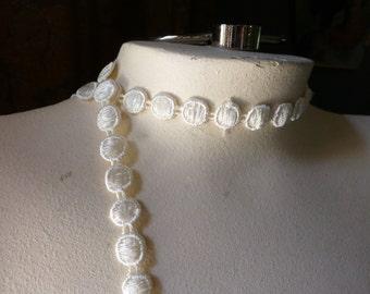 2 yds. IVORY Lace Trim for Veils, Bridal, Garters, Appliques, Crazy Quilts, Costumes CL 3004