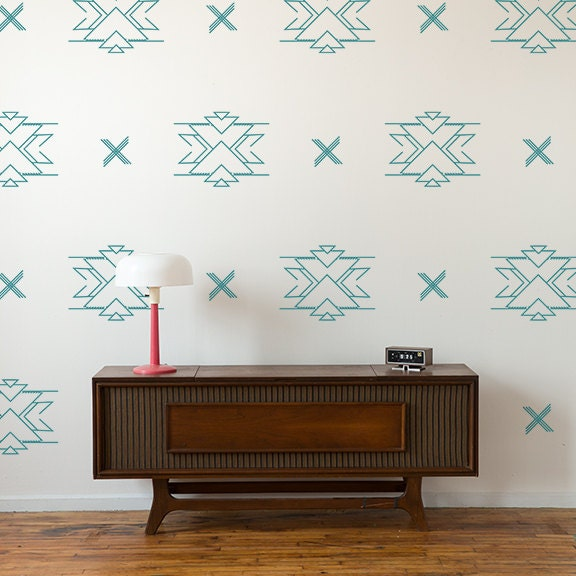 Vinyl Wall Decals Reverse Aztec Pattern 24 Graphics