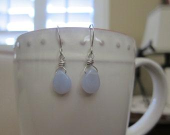Lavender Briolette Earrings