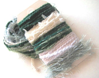 MINT JULIP Specialty Yarn Fiber Bundle - Scrapbooking, Altered Arts, Jewelry - 5 or more bundles for 10% discount