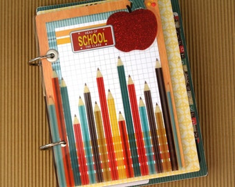 Back to School Premade Mini Scrapbook Album- Journal