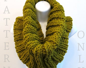 Knit Pattern - Cowl Knitting Pattern PDF for The RUNNER