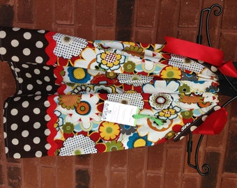 OOAK Size 3T Fun Flowers Pillowcase Dress