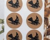 Stickers Bird Envelope Seals Weddings Nature Party Favor Treat Bag Sticker SP035