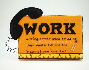 14006 Modern Dictionary: Work Cross Stitch PDF Pattern - DIGITAL DOWNLOAD