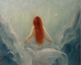 Poetry of theMoon ,Art Print From Original Oil Painting,8x10