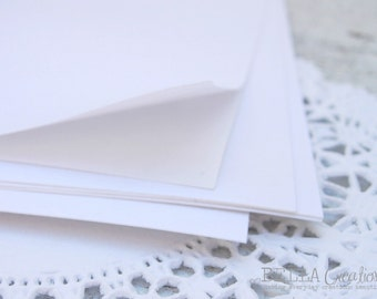 """White Sticker Paper Sheets - Perfect for your DIY projects 8.5"""" x 11"""""""