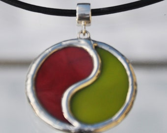 Red rose and olive yin yang