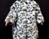 18 in Doll Snow Leopard Coat