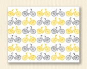 Thank You Cards - Sunny Yellow and Gray Bicycles - Nancy