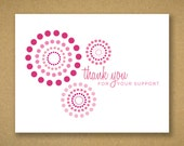 Recycled Breast Cancer Support Thank You Cards - For Charity Events, Runs, Walks - Maddie